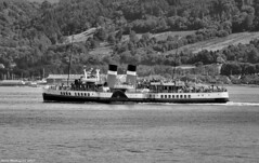 Scotland west coast the paddle steamer Waverley nearing Largs 9 August 2017 by Anne MacKay (Anne MacKay images of interest & wonder) Tags: scotland west coast clyde paddle steamer waverley monochrome blackandwhite xs1 9 august 2017 picture by anne mackay