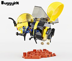 3 Terraforming Bee Spaceship Mech TERRA FB 1 (buggyirk) Tags: earth cannon cannons cockpit yellow black bud sprout sprouting water mech robot robots mecha planet science scientific fiction hive colony conservation garden grow life astronaut astronauts vehicle vehicles lego ideas contest moc afol terrafb 1 mars spaceship space toy toys buggyirk bumblebee bumble bee plants plant mission terraforming terraformer terraform