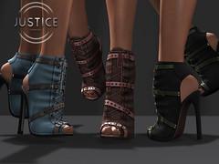 JUSTICE KALEY BOOTS ([:.UNDERGROUND & JUSTICE.:]) Tags: maitreya slink belleza secondlife fashion avatar virtualworld 3d 2ndlife ankleboots boots punk bodysuit