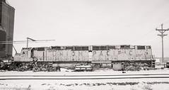 Once Proud (LostOzarkRambler) Tags: unionpacific railroad up up6925 upcentennial train diesellocomotive nikond700 20mm blackandwhite monochrome