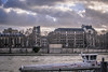 La Seine (2.5 m views ! https://society6.com) Tags: 17janvier2018 paris quaideseine seine visite architecture boat cloud fleuve grey jsebouvi photo péniche roof sky windows