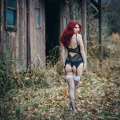 Wild Rose (iUday) Tags: wild rose barn beautiful model boudoir girl
