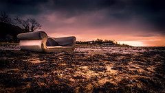 The Sh*t You Find At Low Tide (RonnieLMills) Tags: random bizarre shit low tide strangford lough flood gates newtownards abandoned seat chair throne canute hss slidersunday