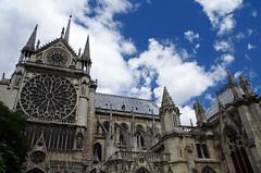 Notre Dame Cathedral (sarowen) Tags: france paris parisfrance cathedral notredamecathedral notredame notredamedeparis church clouds cloudy sky bluesky