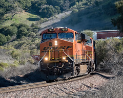 BNSF 7681 Rounding the Bend (lennycarl08) Tags: bnsf burlingtonnorthernsantaferailroad burlingtonnorthernsantafe railroad trains train california franklincanyon stocktonsub