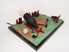 Part 1. Bombarda Maxima! (Dwalin Forkbeard) Tags: lego moc history medieval gun powder bang fantasy artillery war siege castle vignette soldier