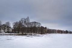 Frozen river (A blond-Tess) Tags: 365days 365photochallenge 365challenge landscape scandinavia scandinavien karlstad värmland frozen frozenriver winter swedishwinter winterlight canonphotography