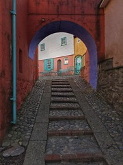 I am not a number (neal1973) Tags: the prisoner village portmeirion wales no6 colours colourful bright vivid stairs stairway window door ngc