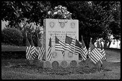 Disabled Military Veterans of Chester County (PA) Memorial, West Chester, PA (pfarkas67) Tags: disabled military veterans chester county memorial westchester fujifilm xe2 1855mm black white