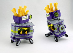 Squiddy's Gourmet Chili Cheese Fries (TFDesigns!) Tags: lego space rover febrovery foodtruck frost squidman alien planet