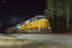 NS 187 at Ben Hill (travisnewman100) Tags: norfolk southern train railroad night photography manifest freight 187 emd alabama east end district ben hill union pacific up prlx leaser sd70mac sd60m executive h2