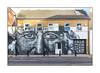 Street Art (Ketones6000, HJW), East London, England. (Joseph O'Malley64) Tags: ketones6000 hjw streetartists streetart urbanart publicart freeart graffiti eastlondon eastend london england uk britain british greatbritain art artists artistry artworks murals muralists wallmurals wall walls newbuild recenthousing brickwork bricksmortar cement pointing tiledroof skylight doubleglazing upvcdoubleglazing drainpipes burglaralarms vent extractorfan conduit electricalconduit shutter rollershutter awning door doorway plasticdoor satellitedish streetlamp lighting flue bollards signpost sign signage stopcock pavement granitekerbing tarmac doubleyellowlines noparkingatanytime parkingrestrictions roadmarkings face man controlledparkingbays urban urbanlandscape aerosol cans spray paint fujix x100t accuracyprecision