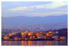 sole-radente (Giorgio Serodine) Tags: trieste depositi cisterne tramonto porto citta tele canon abitazioni molo terraferma golfo montagne navi