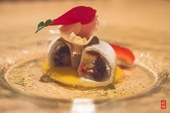 Strawberry daifuku (luyaozers) Tags: dinner restaurant nyc kaiseki japanese dining food luxury fresh delicious yummy strawberry mochi dessert red bean rose