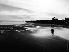 place for my head (explored) (simone.pelatti) Tags: seaside bw black white contrast reflection