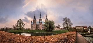 serene in its green setting, Rosenborg Castle, winter panorama from the gardens, Danish Castle / Palace, Copenhagen, Denmark