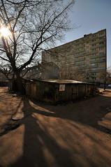 my backside city - old and new (rafasmm) Tags: łódź lodz poland polska europe city old new street streets building cellars tree under sun nikon d90 sigma 1020 ex backside bałuty district