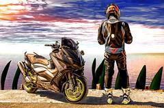 Scooter guy (driver Photographer) Tags: 摩托车,皮革,川崎,雅马哈,杜卡迪,本田,艾普瑞利亚,铃木, オートバイ、革、川崎、ヤマハ、ドゥカティ、ホンダ、アプリリア、スズキ、 aprilia cagiva honda kawasaki husqvarna ktm simson suzuki yamaha ducati daytona buell motoguzzi triumph bmw driver motorcycle leathers dainese motorrad