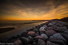 Rosolina mare (paolotrapella) Tags: longexposure lungaesposizione sunset tramomto rocks water sky clouds mare sea seascape