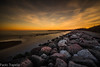 Rosolina mare (paolotrapella) Tags: longexposure lungaesposizione sunset tramomto rocks water sky clouds mare sea seascape