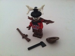 Scarlet Skinwalker (Gallisuchus (Clayface)) Tags: custom lego monster fighter hero minifigure original character scarlet skinwalker