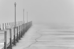 The jetty (another_scotsman) Tags: chicago lake jetty marina fog landscape winter ice