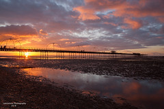 Pier Sunset, (Lancashire Photography.com) Tags: southport pier sunset merseyside