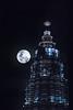 KLCC (bdrc) Tags: asdgraphy kualalumpur kuala lumpur kl malaysia city urban tower building structure architecture landmark travel visit destination night light illumination klcc petronas twin towers supermoon moon fullmoon sony a6000 apsc minolta 75300mm f4556 tele zooom
