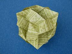 Tangled Star (ISO_rigami) Tags: modular origami 3d a4 sid sidx eckhardhennig cube minecraft