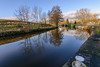 _DSC0063 - Salterrforth moorings (SWJuk) Tags: swjuk uk unitedkingdom gb britain england lancashire salterforth colne canal leedsliverpoolcanal narrowboats barges boats towpath trees water flat calm reflections still bluesky clouds 2018 jan2018 winter nikon d7100 nikond7100 tokina1116 wideangle rawnef lightroomclassiccc