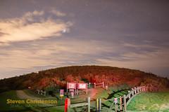 Tail Light Magic (Steven Christenson) Tags: california pacificcoast santacruzmountains stars night clouds hill sirius windyhill openspacepreserve sky lightpainting red taillights brakelights