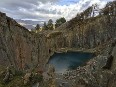 The Blue Lake (neal1973) Tags: water stone uk wales quarry lake blue