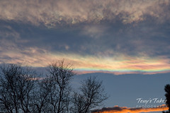 February 17, 2018 - Sunset iridescent clouds. (Tony's Takes)