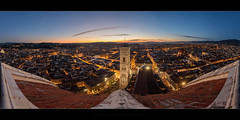 Duomo Wings (Rodney Campbell) Tags: lights night duomo cityskyline italy hdr sunset cityscape florence