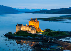 Eilean Donan (Mr_Souter) Tags: castle landscape high eileandonancastle hillside tourist destination blue scotland donan twilight tourism eilean 2013 europe places uk
