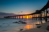 a  new beginning... (ImagesByLin) Tags: catherinehillbay sunrise jetty pier ocean sea seascape nsw australia reflection longexposure composition pov sun rocks oldbeautiful oldjetty oldcoalloader landscape myhappyplace