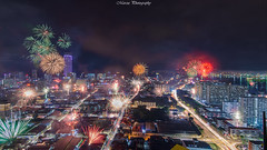 槟城乔治市百家烟花庆天公诞 (Marcus Lim @ WK) Tags: firework cityscape celebration architecture landscape nikon tokina wide night nightscape culture festival light city sky building