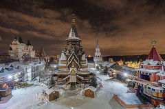20180223DSCF4424-Edit (Gorshkov Igor) Tags: moscow night city winter cityscape izmaylovo kremlin church temple old tower landmark
