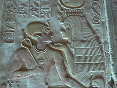 Seti with Isis, Abydos (Aidan McRae Thomson) Tags: abydos temple egypt relief carving ancient egyptian