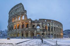 neve a Roma 2018 (gianmarco giudici) Tags: colosseo nevearoma girl rome gianmarcogiudici antichità awesomeplace nikond600