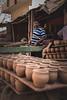 pot vendor (rvns.yathish22) Tags: potterytown bangalore pot vendor