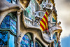 Senyera (rossendgricasas) Tags: senyera drapeau flag catalonia barcelona casabatlló modernisme modernist architecture artnouveau street streetart streetphotography photography photoshop lightroom color nikon tamron