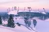 Good Morning Olympia (redfurwolf) Tags: munich olympicstadium olympia stadium winter snow sunrise sunsetlight o2tower runners outdoor architecture cold purple redfurwolf sonyalpha a99ii sony sonyimaging germany sport