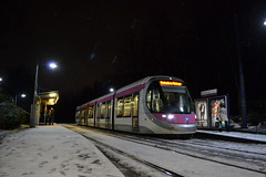 Midland Metro 30 (Will Swain) Tags: birmingham 11th december 2017 west midland midlands city centre tram trams light rail railway rails transport travel europe kenrick park stop metro 30