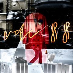 2 more weeks of winter (Visavis..) Tags: selfie wintry abstract reflections solarisation finepixx100 fujifixepixx100 behindtheglass urbanlife