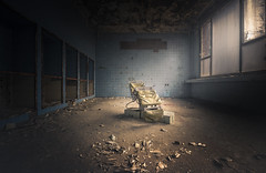 Next patient please.. (Marco Bontenbal (Pixanpictures.com)) Tags: nikon d750 tamron 1530 lost abandoned decay decayed hidden world europe germany urbex urban ue urbanexploring mysterious doctor patient lonely old forgotten haunted horror natural light naturallight beautiful chair exploring