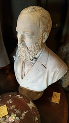 """GARFIELD""PLASTER BUST, C. 1900 BY PIETRO CAPRONI, BOSTON.  $250. • <a style=""font-size:0.8em;"" href=""http://www.flickr.com/photos/51721355@N02/24758296167/"" target=""_blank"">View on Flickr</a>"