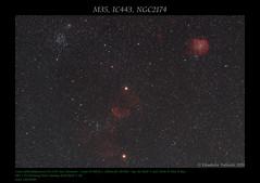 M35, IC443, NGC2174 (AstroBetta) Tags: ic443 ngc2174 astrobetta astrofotografia astrophotography bianchino canon cielo costellazione fullspectrum1100d gemini inverno italy m35 medusa milkyway nebulas night notte orion scimmia siena sky staradventurer stars stelle tuscany winter