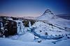 Kirkjufell & Kirkjufellsfoss (LalliSig) Tags: iceland landscape winter snow ice cold blue black white gray snæfellsnes mountain water waterfall kirkjufell kirkjufellsfoss frozen river january