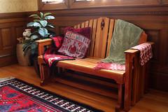 A cozy corner (ejhrap) Tags: rug bench glider fabric pillow orientalrug